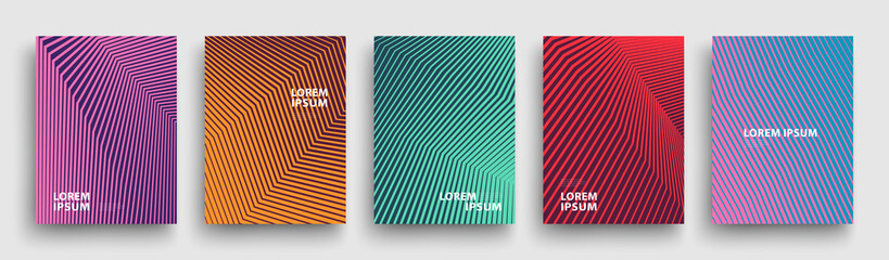 Simple Modern Covers Template Design. Set of Minimal Geometric Halftone Gradients for Presentation, Magazines, Flyers, Annual Reports, Posters and Business Cards. Vector EPS 10 Fotoväggar