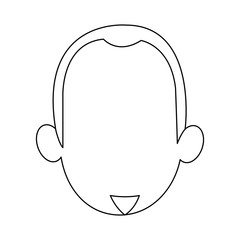 cartoon face of young man image vector illustration
