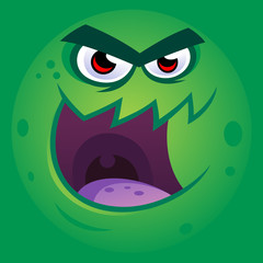 Vector illustration of a funny monster face.