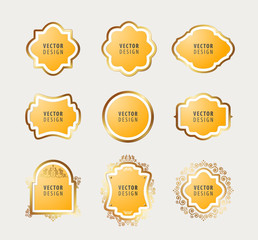 Set of High Quality Luxury Frame on Gray Background. Vector Isolated Illustration