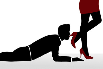 Domination foot hot man woman