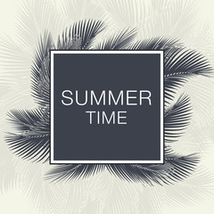Summer Time Lettering Text