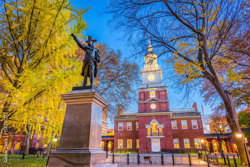 Fototapete Philadelphia, Pennsylvania, USA at Independence Hall.
