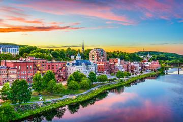 Fotomurales - Augusta, Maine, USA Skyline.