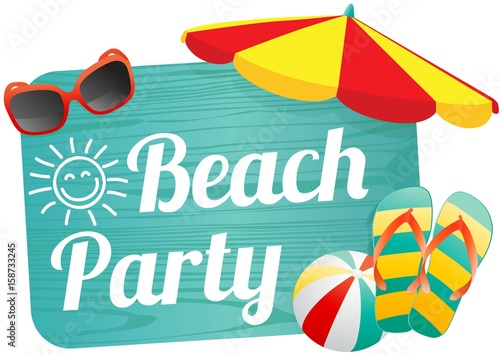 beach party stock image and royalty free vector files on fotolia rh za fotolia com beach party images clip art beach party background clipart