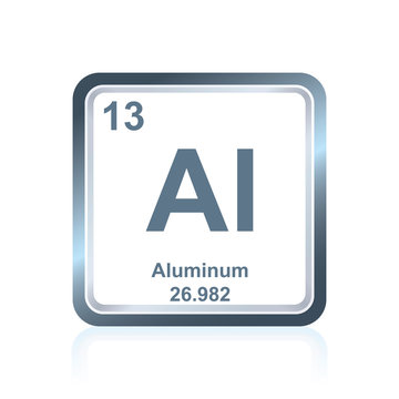 Chemical element aluminum from the Periodic Table