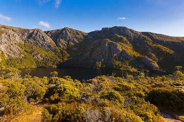 Crater Lake, part of Cradle Mountain, Lake St Clair National Park. Autumn in Tasmania, Australia