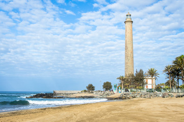 Lighthouse in Maspalomas, Gran Canaria, Spain, Canary Islands