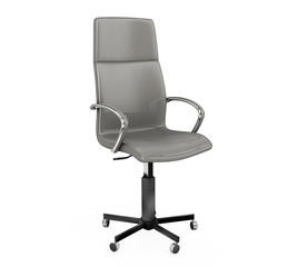 Rear view boss chair isolated on white. 3D illustration