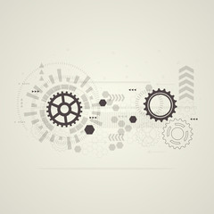 Abstract technological background. Vector illustration.