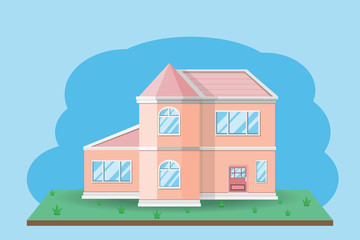 house building design.vector and illustration