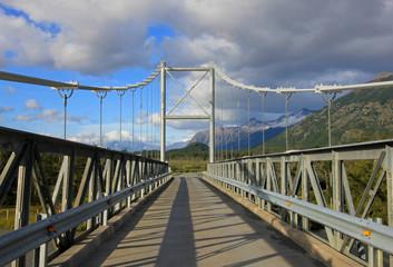 Bridge to Villa O Higgins, Carretera Austral, Patagonia, Chile