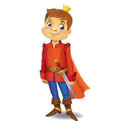 Cartoon cute Prince