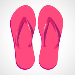 Cartoon pink beach slippers