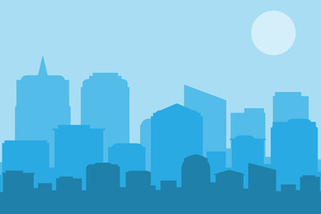 The city landscape. vector and illustrator