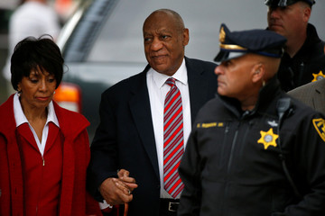 Cosby arrives for the third day of his sexual assault trial at the Montgomery County Courthouse in Norristown