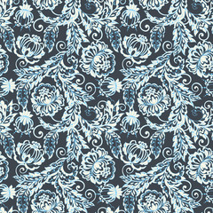 Indian seamless floral pattern. Vector background