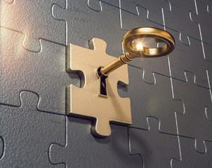 3D Puzzle mit Schlüssel