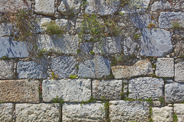 Ancient huge stone wall