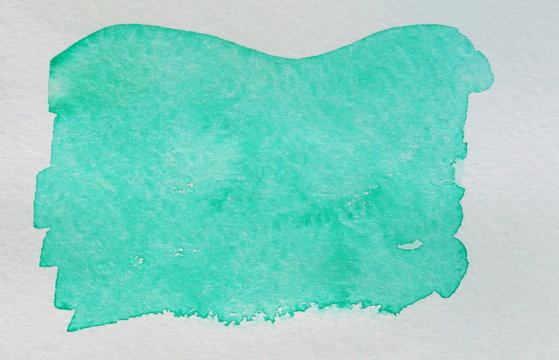 Abstract  turquoise watercolor background