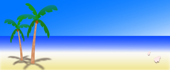 illustration of a sunny day on a desert island