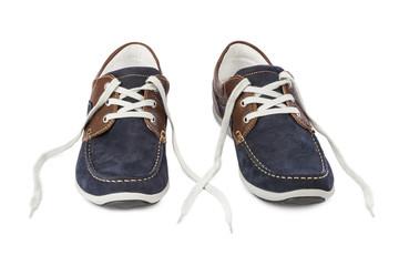 Blue sport shoes