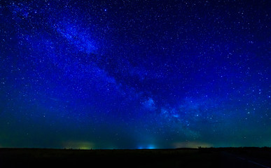 Milky way and starry sky.