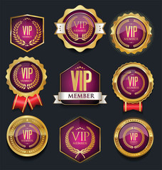 VIP silver and gold label collection