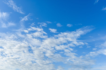 Beautiful cirrus clouds against the blue sky