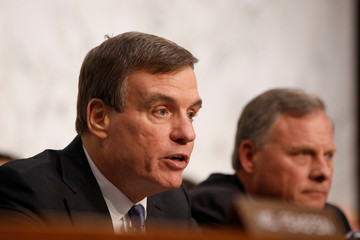 Senator Warner speaks before the committee on Capitol Hill in Washington