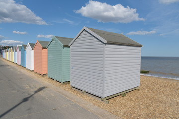 Beach huts on Felixstowe beach