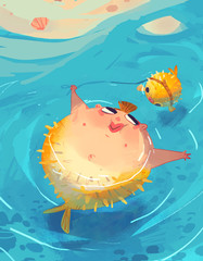 blowfish mermaid
