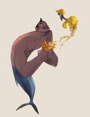 Tuna and jelly mermaid