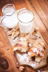 croissant with milk