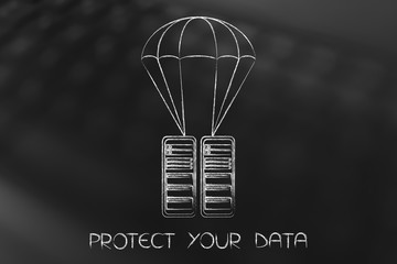 servers on a parachute, data protection and back-up