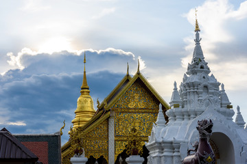 Wat Phra That Hariphunchai in Lamphun Province, Thailand.