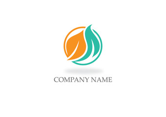 leaf organic nature vector logo