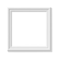 White square picture frame