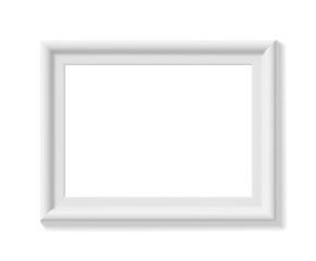 White picture frame. Landscape orientation