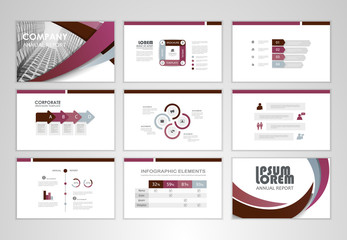 Set of business infographic design