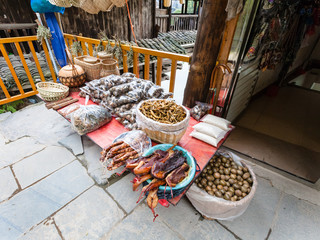 meal on local market in Chengyang village
