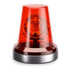 Emergency red siren light