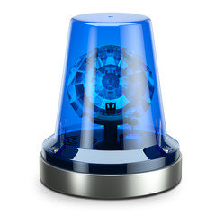 Police blue siren