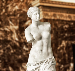 Poster Historic monument Aphrodite of Milos also known as Venus de Milo, a famous ancient Greek statue