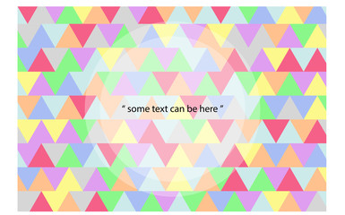 Minimalistic design, creative concept, modern diagonal abstract colorful background Triangle element.  Blue,yellow,red,green,gray,purple,orange lines & triangles.with texts. vector illustration EPS10.