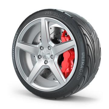 Car wheel brakes system
