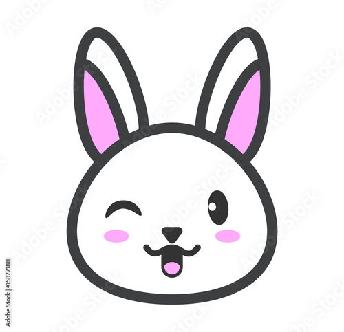 u0026quot cute and tender rabbit  white rabbit kawaii  cartoon
