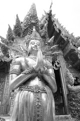 Silver chapel in SRISUPHAN TEMPLE, Chiangmai, Thailand