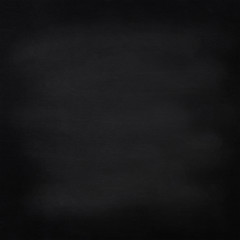 Black chalkboard background. Classroom or cafe eraserboard or blackboard.