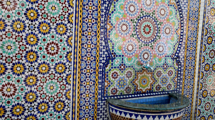 Mosaic art fantasy Arabic work